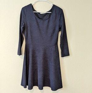 Dresses & Skirts - ☕Dark blue 3/4 sleeve dress